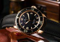 Reloj Blancpain Fifty Fathoms de oro amarillo