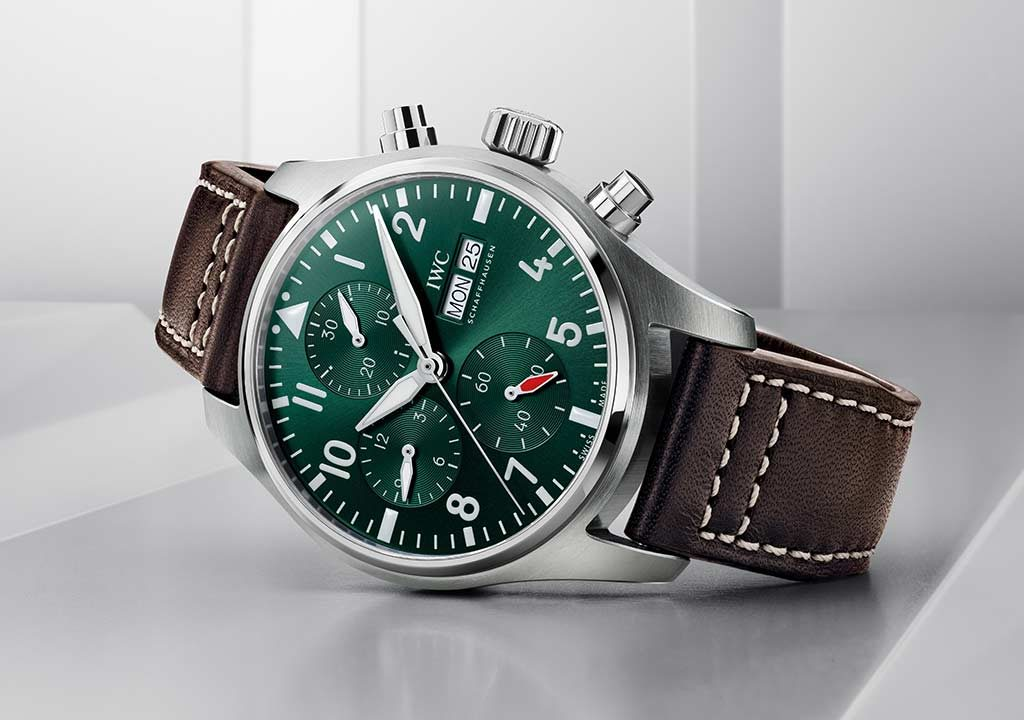 Reloj de Aviador IWC con esfera verde