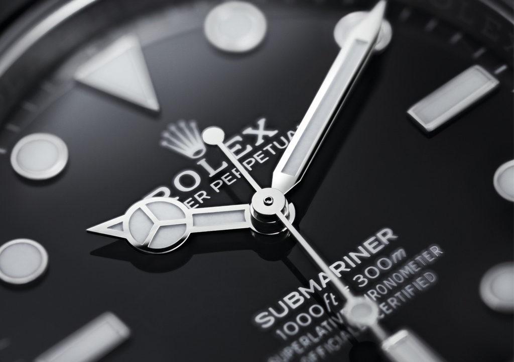 Detalle de la esfera del Rolex Submariner