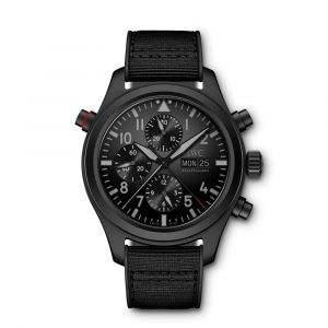 IWC Schaffhausen Pilot's Watch Double Chronograph TOP Gun Ceratanium IW371815