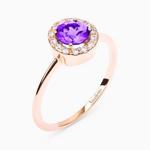 Amethist rose gold ring