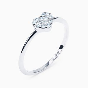 White Gold Diamonds Heart Ring