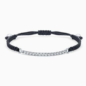 Rabat white gold 18 kts. bracelet with diamonds