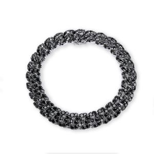 Bracelet Rabat white gold with diamonds negros