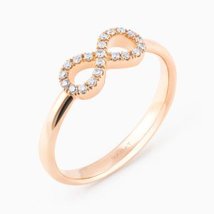 """""""For Ever"""" Ring with Diamonds"""