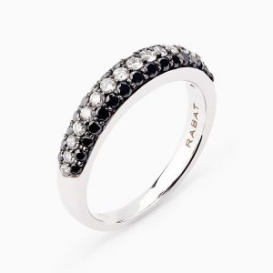 White & Black Diamonds Ring