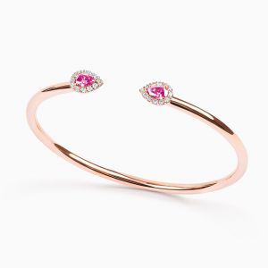 Rose gold bracelet with sapphires