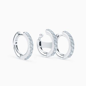 Asimetric hoops with diamonds