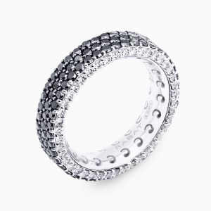 Ring Rabat white gold with black diamonds