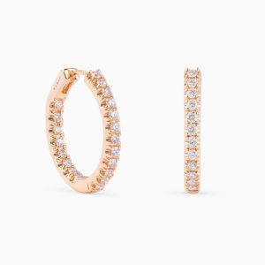 Rabat rose gold 18 kts. earring with diamonds