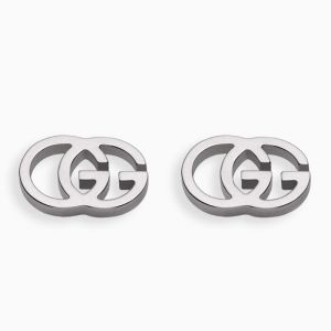 Gucci stud earrings in white gold