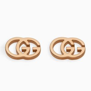 Gucci stud earrings in rose gold