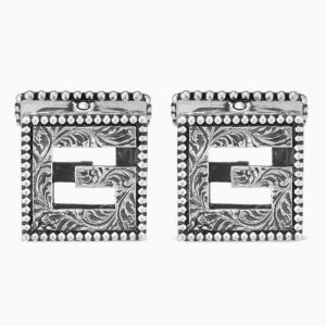 Gucci cufflinks in sterling silver
