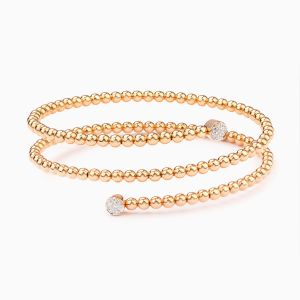 Rabat rose gold 18 kts. bracelet with diamonds