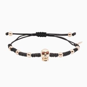 Rabat bracelet with gold balls and skull