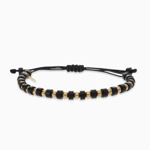 Bracelet with onyx and gold balls Rabat