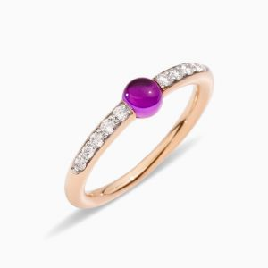 Pomellato Ring with Amethyst and Diamonds