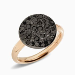 Pomellato Ring with Black Diamonds