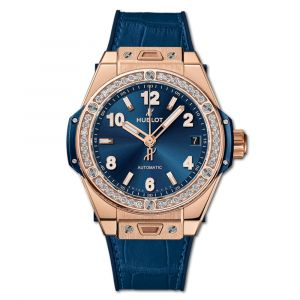 Hublot Big Bang One Click King Gold Blue Diamonds