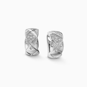 Earrings CHANEL Coco Crush white gold with diamonds