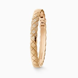 Bracelet CHANEL Coco Crush yellow gold with diamonds