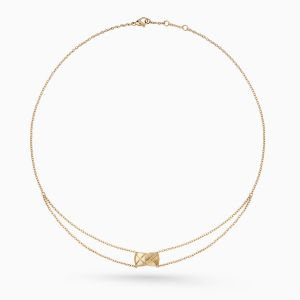 Collar CHANEL Coco Crush de oro beige