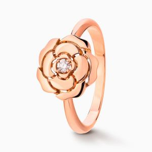 Ring CHANEL Camelia rose gold with diamonds