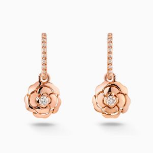 Earrings CHANEL Extrait de Camelia rose gold with diamonds