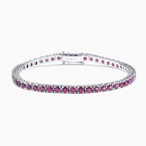 Bracelet riviére Rabat white gold with rubi