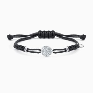 Diamond and Nylon Bracelet