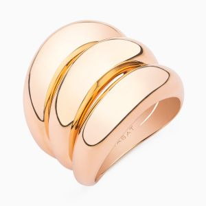 Rose Gold Wide Row Ring