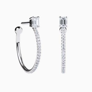 Rabat white gold 18 kts. earring with diamonds