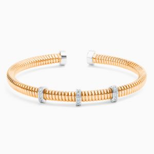 Tube Bracelet with Diamonds