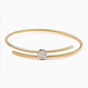 Rabat yellow gold 18 kts. bracelet with diamonds