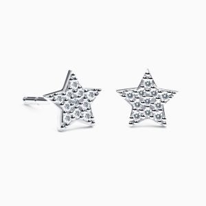 Diamonds Star Earrings in White Gold AMULETTO