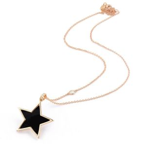 Nacre and diamonds Star pendant