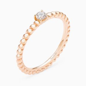 Engagement Ring in Pink Gold