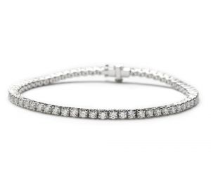 Riviere bracelet with diamonds