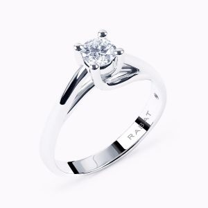 Rose solitaire engagement ring