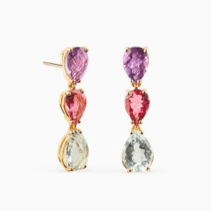 Couloured Gemstone Earrings