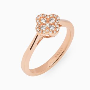Ring Rabat rose gold with diamonds