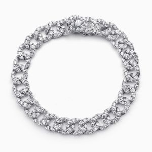White Gold Diamond Pave Bracelet