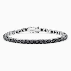 Riviére Bracelet with Black Diamonds