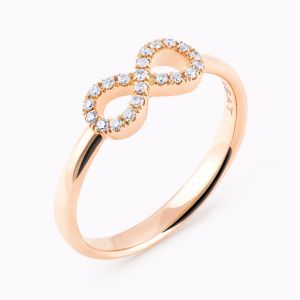 Golden ring with diamonds Infinite