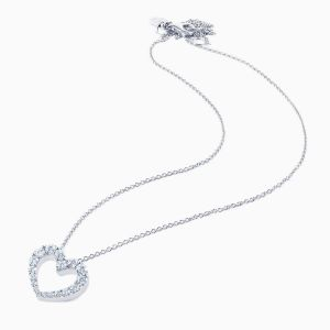 White gold Heart-shaped pendant with diamonds