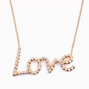 Rose gold Love pendant