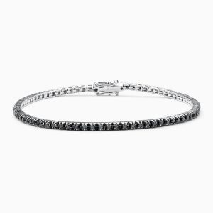 Black Diamonds Riviere Bracelet