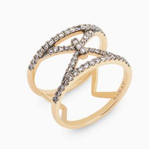Ring Rabat rose gold with black diamonds