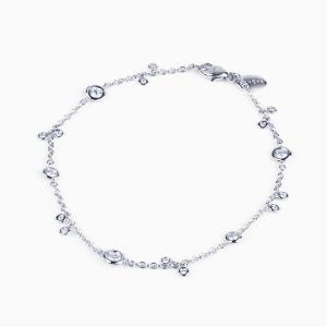 White gold bracelet with diamonds