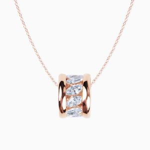 Rabat rose gold 18 kts. necklace with diamonds